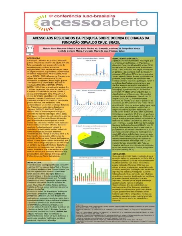 Acesso aos resultados da pesquisa sobre doença de Chagas da Fundação Oswaldo Cruz, Brazil - CONFOA 2017