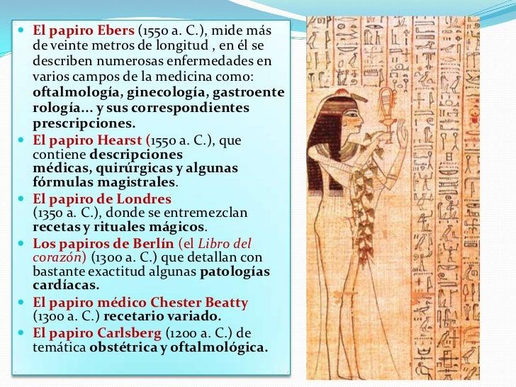 """Los egipcios llamaban a los médicos Sun-Nu, que significaba """"el hombre de los que sufren o están enfermos"""" y en sus diagnó..."""