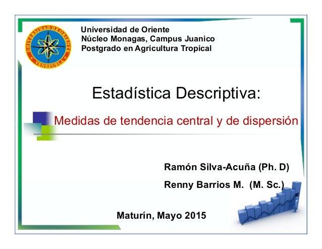 Núcleo Monagas, Campus Juanico Postgrado en Agricultura Tropical Universidad de Oriente Ramón Silva-Acuña (Ph. D) Renny Ba...