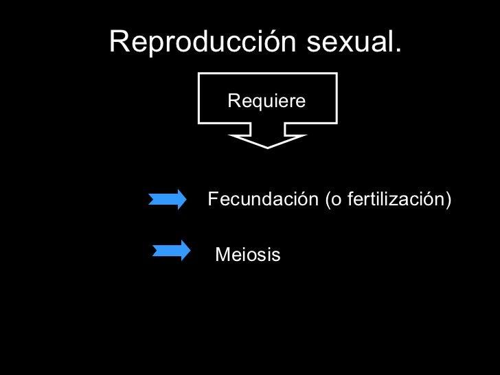 Reproducción sexual. Fecundación (o fertilización) Meiosis Requiere