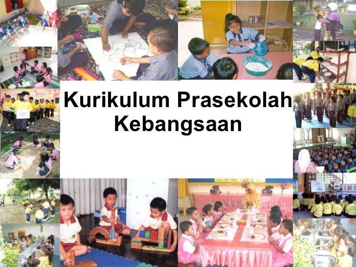 Kurikulum Prasekolah Kebangsaan