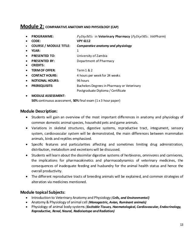 3 m sc vet-pharm training programme - main proposal