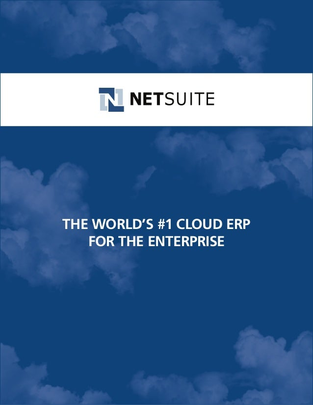The World's #1 Cloud ERP for the Enterprise