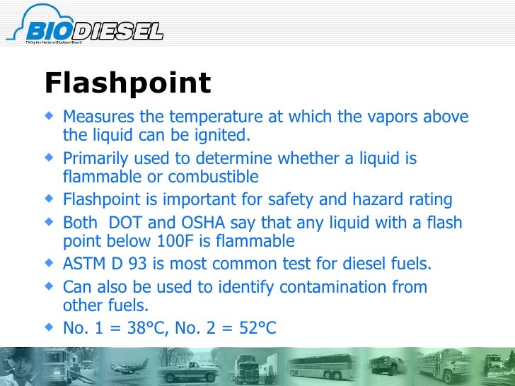 Flashpoint A Chemical Property