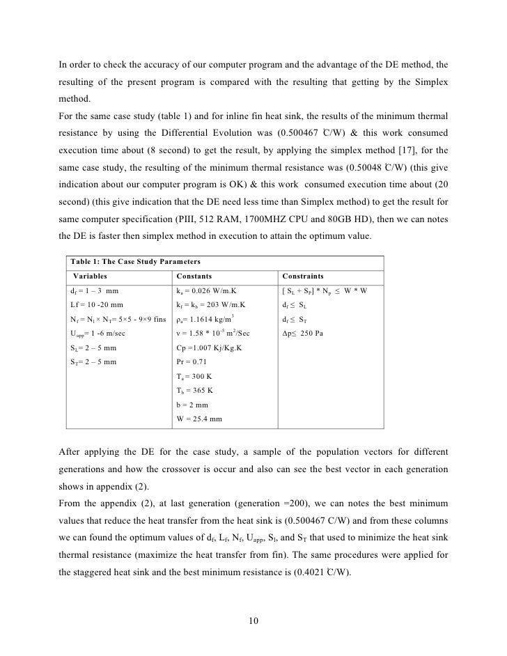 In order to check the accuracy of our computer program and the advantage of the DE method, theresulting of the present pro...