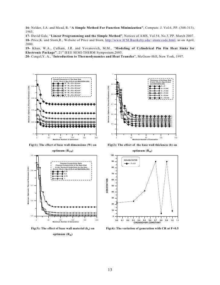"""16- Nelder, J.A. and Mead, R. """"A Simple Method For Function Minimization"""", Compute. J. Vol.6, PP. (308-313),1965.17- David..."""
