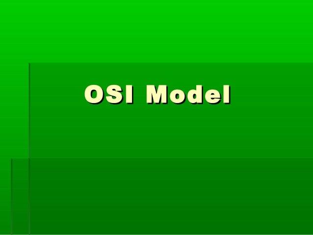 OSI ModelOSI Model