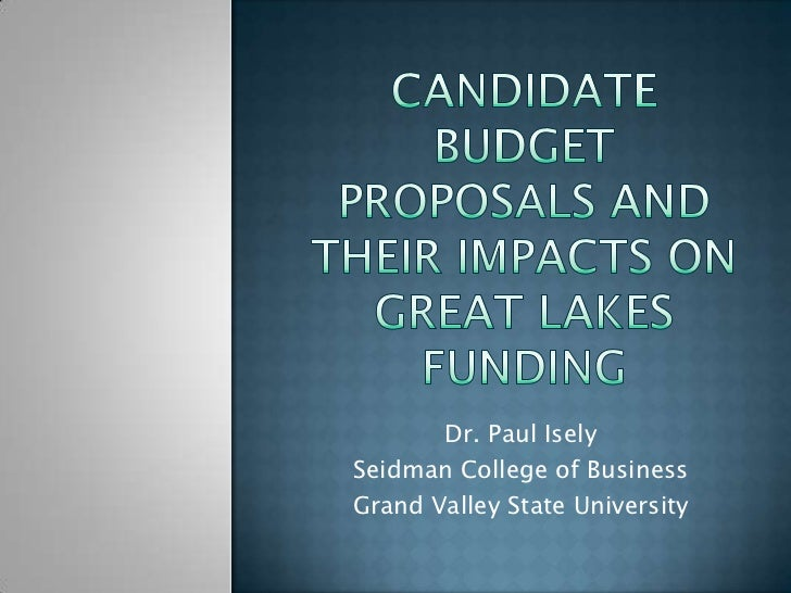 Dr. Paul IselySeidman College of BusinessGrand Valley State University