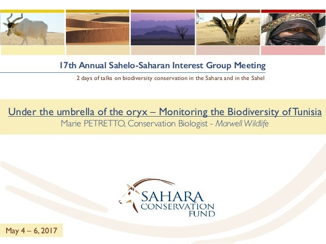 17th Annual Sahelo-Saharan Interest Group Meeting 2 days of talks on biodiversity conservation in the Sahara and in the Sa...
