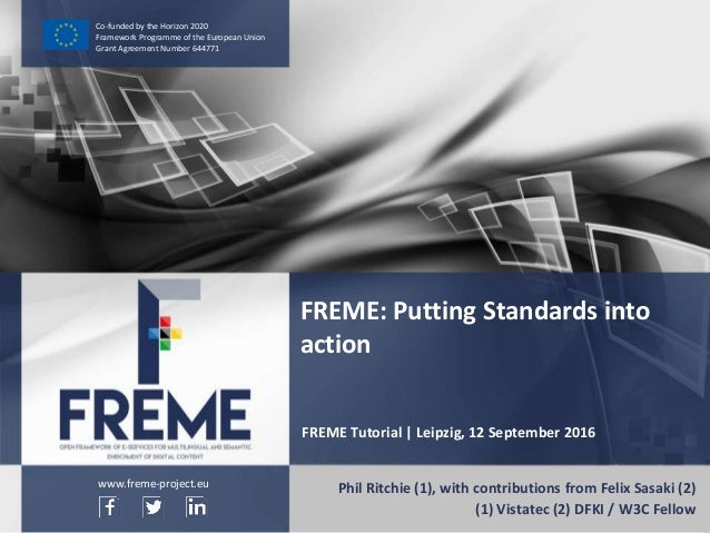 NIF AND ITS ROLE IN FREME WWW.FREME-PROJECT.EU 1 Co-funded by the Horizon 2020 Framework Programme of the European Union G...