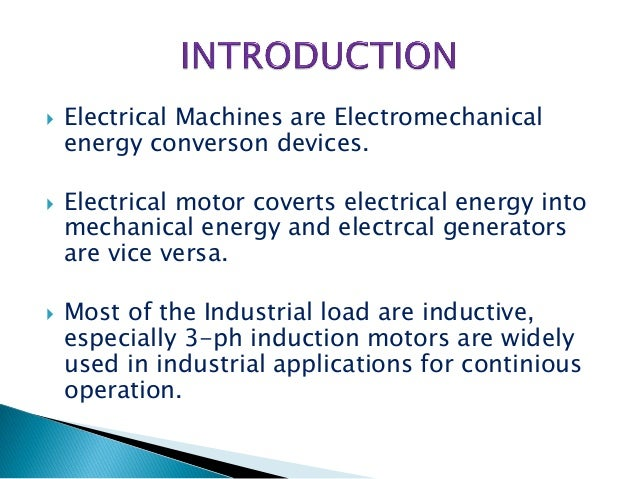 Ppt on induction generator.