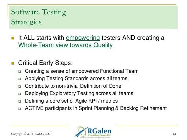 Software Testing  Strategies   It ALL starts with empowering testers AND creating a  Whole-Team view towards Quality   C...