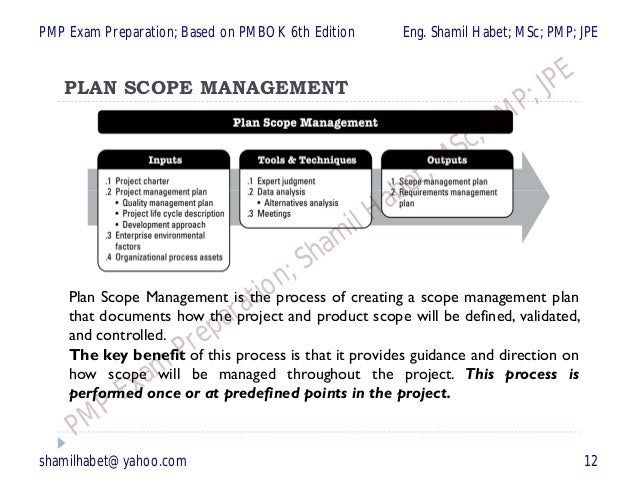 PMP Chapter 3 of 6 Planning Process Group (24- Processes) (Based on …