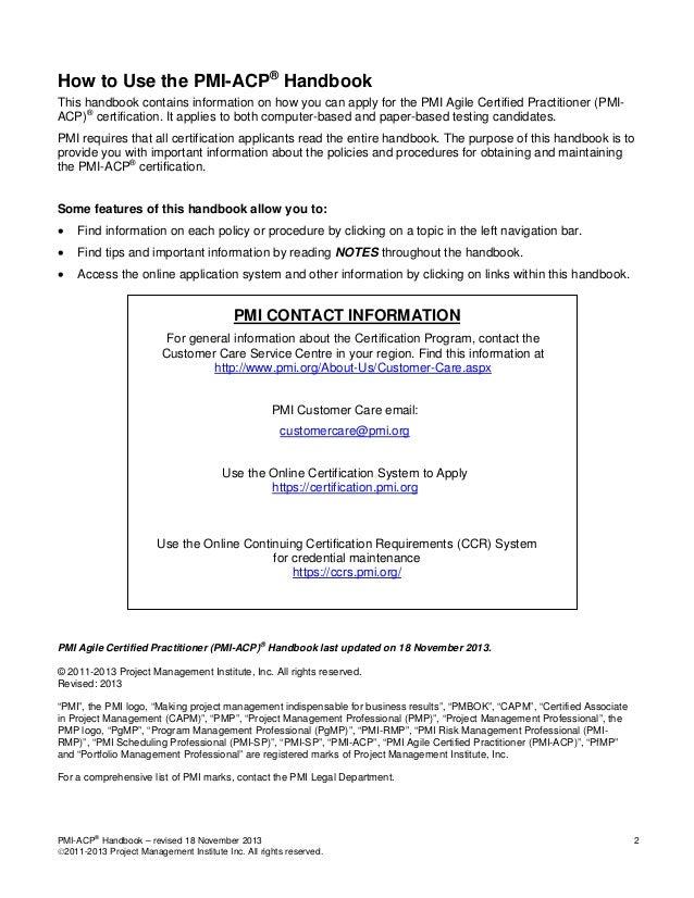 3 Pmi Acp Handbook Agile Certified Practitioner Acp Credential