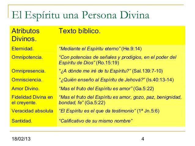"""El Espíritu una Persona DivinaAtributos             Texto bíblico.Divinos.Eternidad.            """"Mediante el Espíritu eter..."""