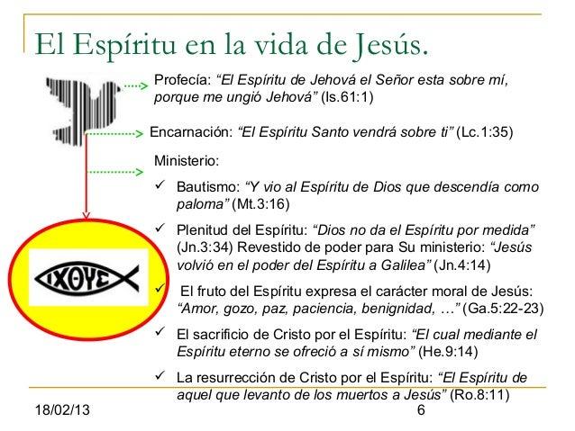 """El Espíritu en la vida de Jesús.           Profecía: """"El Espíritu de Jehová el Señor esta sobre mí,           porque me un..."""