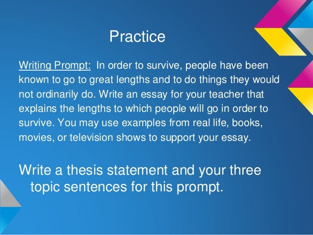 writing a point thesis statement  sentence paragraph 3 14
