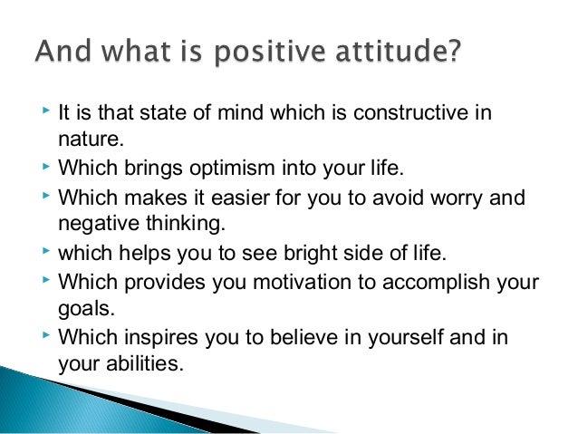 Positive Attitude Skills