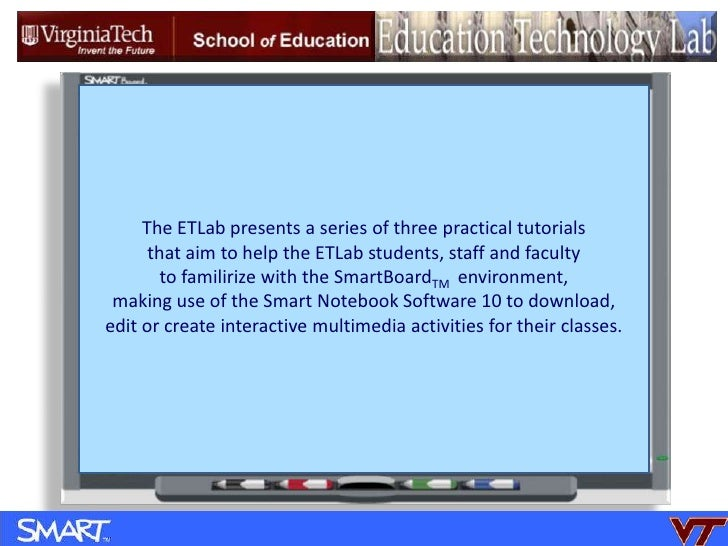 The ETLab presents a series of three practical tutorials <br />that aim to help the ETLab students, staff and faculty  <br...