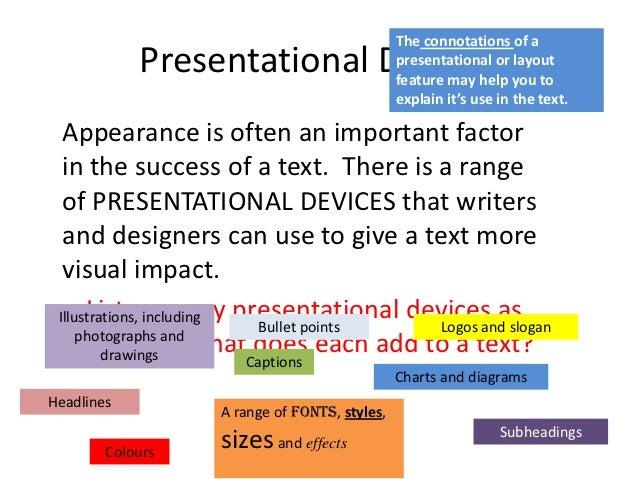 question 2a presentaitonal features