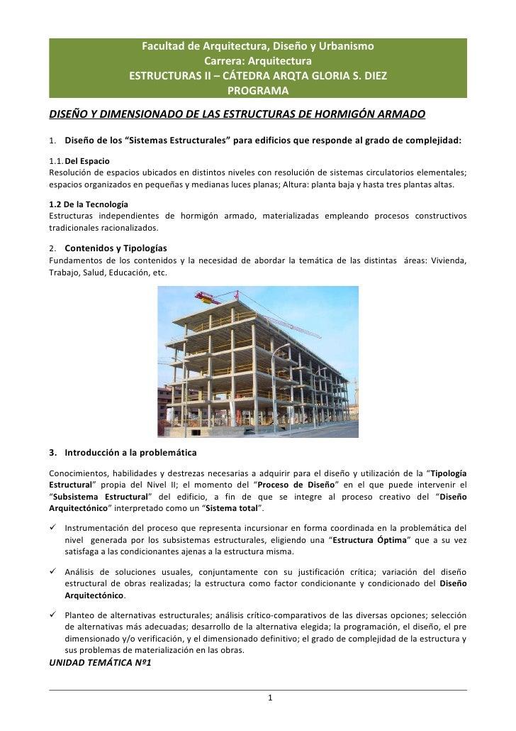 Facultad de Arquitectura, Diseño y Urbanismo                                   Carrera: Arquitectura                     E...