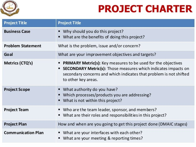 project charterproject title project titlebusiness case why should you ...