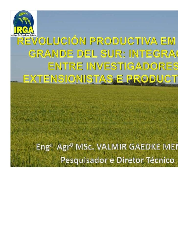 SISTEMAS DE PRODUÇÀOARROZ DE SEQUEIRO                    ARROZ IRRIGADO                    74%DAPRODUÇÃO DEARROZ  26%D...