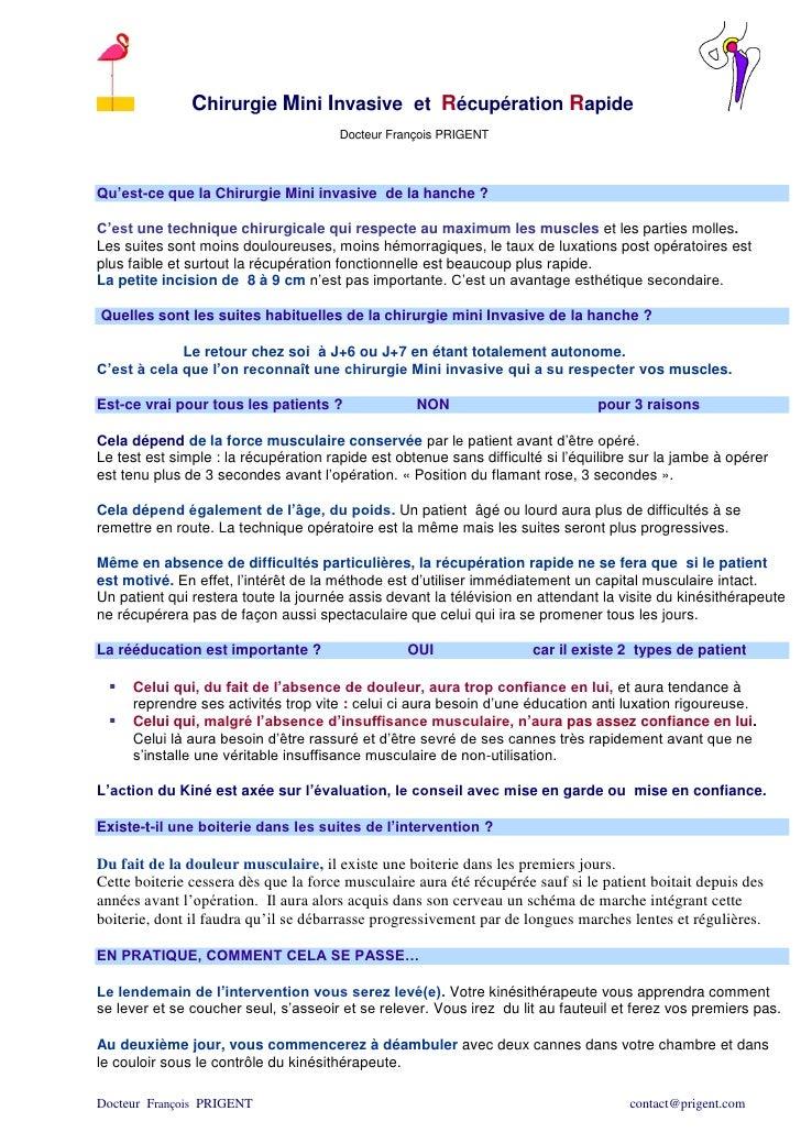 Chirurgie Mini Invasive et Récupération Rapide                                       Docteur François PRIGENTQu'est-ce que...
