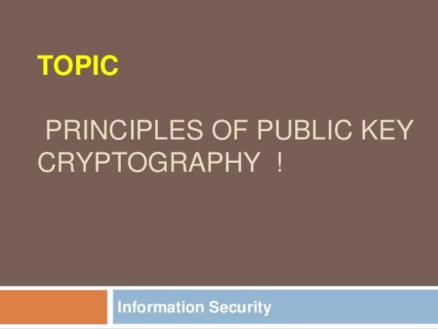 Block diagram of public key cryptography principles