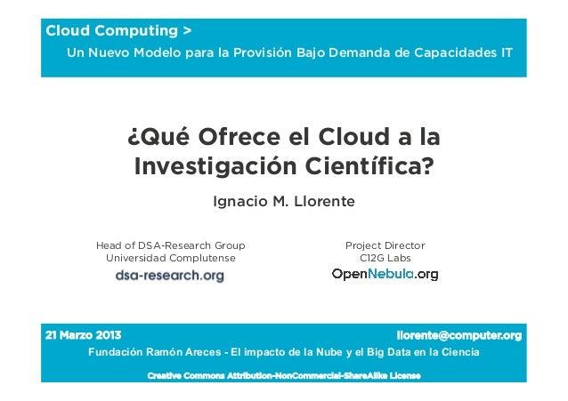 Cloud Computing >     Un Nuevo Modelo para la Provisión Bajo Demanda de Capacidades IT                   ¿Qué Ofrece el Cl...