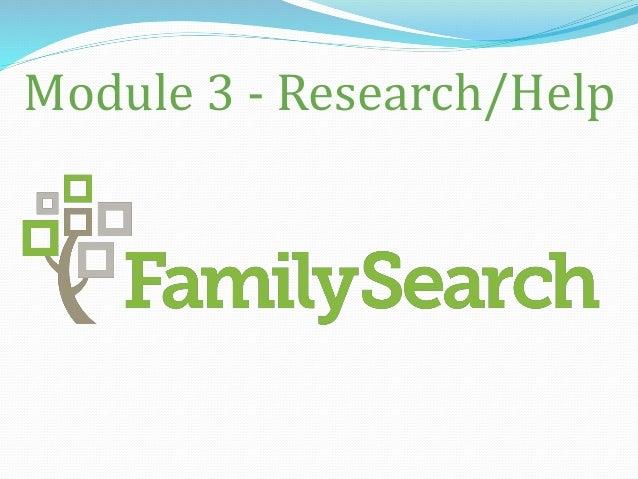 Module 3 - Research/Help