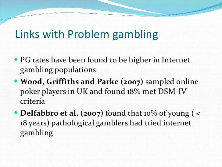 Gambling addiction dsm iv
