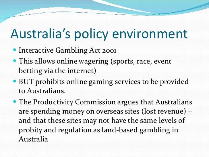 Australia interactive gambling act casino indiana northern