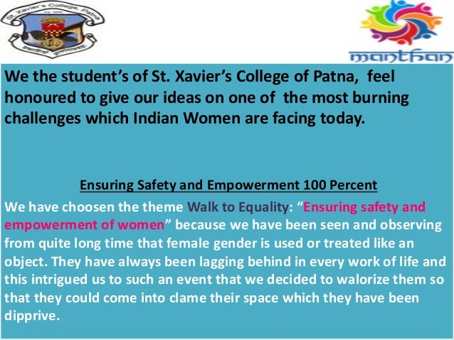 We the student's of St. Xavier's College of Patna, feel honoured to give our ideas on one of the most burning challenges w...