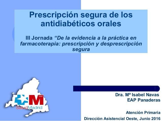 III Jornada Farmacoterapia 2016 DAO- Prescripción segura