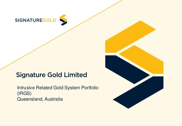 Intrusive Related Gold System Portfolio (IRGS) Queensland, Australia