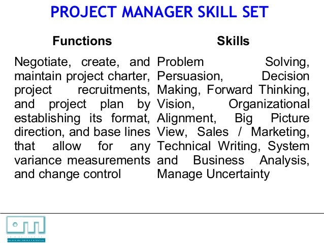 3 skill sets for it managers