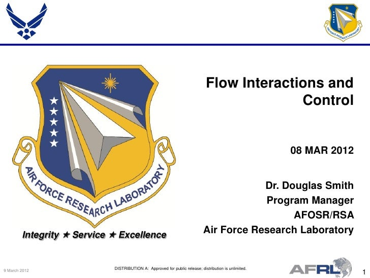 Flow Interactions and                                                                                           Control   ...