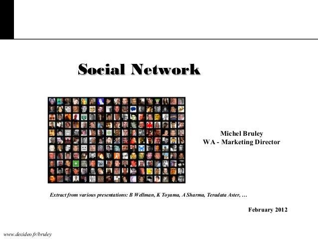 Social Network  Michel Bruley WA - Marketing Director  Extract from various presentations: B Wellman, K Toyama, A Sharma, ...