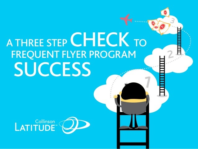 A three step check to Frequent Flyer Program Success 2 3