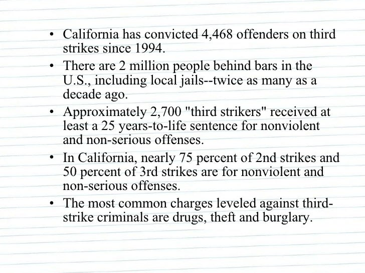 california voters approved the ballot initiative of the three strikes law Ballot initiatives a little liberal comfort in california, the state's voters controversial three-strikes law (which was itself approved by.