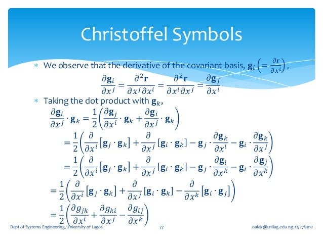 3 Tensor Calculus Jan 2013