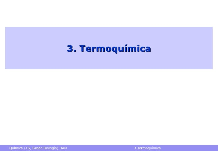 3. Termoquímica