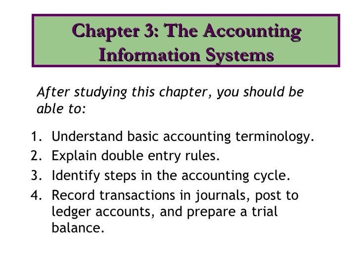 <ul><li>Understand basic accounting terminology. </li></ul><ul><li>Explain double entry rules. </li></ul><ul><li>Identify ...
