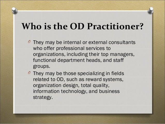 role of organizational development