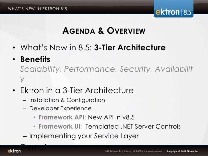 Ektron 3 tier architecture for 5 tier architecture