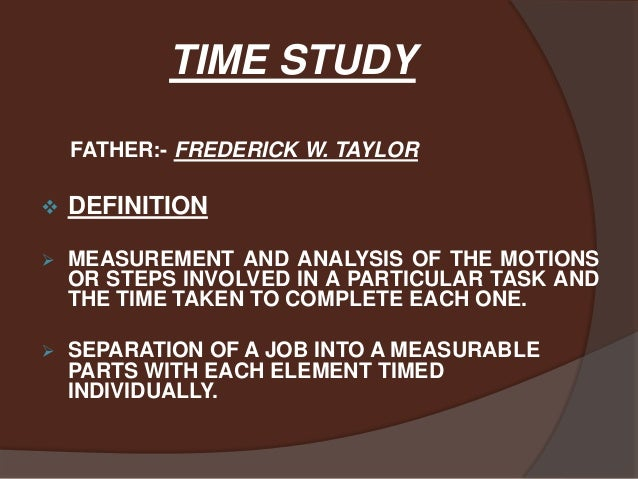 Time Study Data Analysis - YouTube