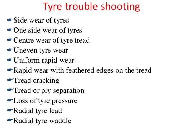 3 tyre materials