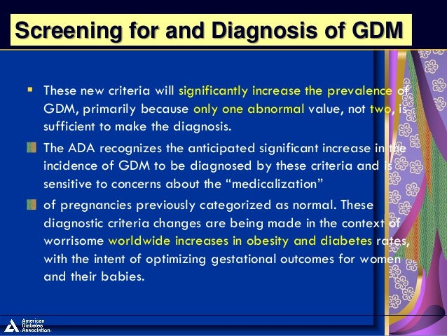 new ada guidelines for gestational diabetes