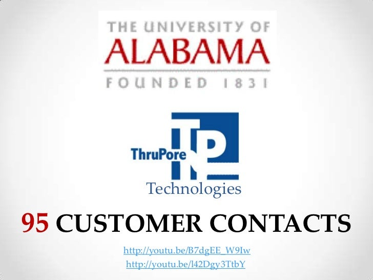 Technologies95 CUSTOMER CONTACTS      http://youtu.be/B7dgEE_W9Iw      http://youtu.be/l42Dgy3TtbY